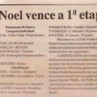 Matéria de jornal sobre a sinuca