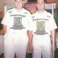 Jogadores de sinuca: Igor e Noel 1996