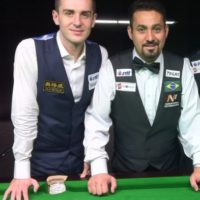 Mark Selby e Noel no mundial de snooker