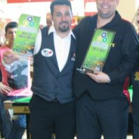 Noel e Igor. Noel Campeão Brasileirode sinuca em São Luis do Maranhão
