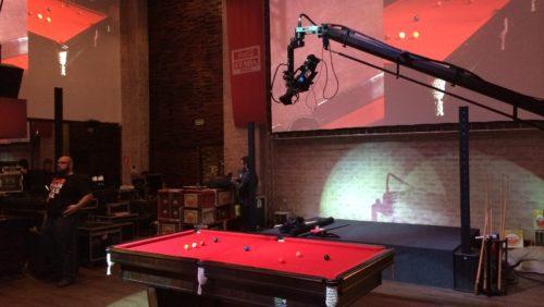 Noel participa com exibição de sinuca no lançamento da cerveja Amstel