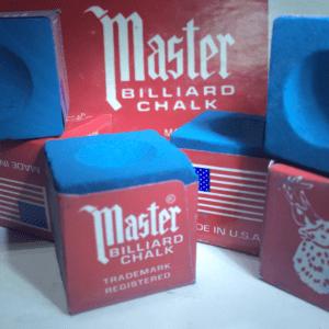 Giz de sinuca Master Azul Original Importado