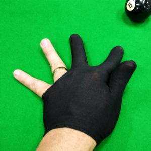 luva de sinuca preta