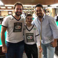 Fabinho Luersen, Nicolly Cristo e Noel Atletas de sinuca 17ª Copa Sul Noel Snooker