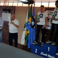 Premiação da categoria Master na 17ª Copa Sul de Snooker