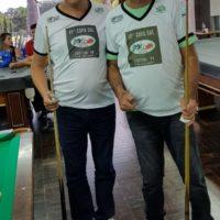 Aurélio e Eládio (Vaca) finalistas da categoria Master na 17ª Copa Sul de Snooker