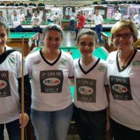 Lilian, Joyce, Nicolly e Fátima na 17ª Copa Sul Noel Snooker