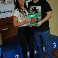 Premiação de maior tacada da 17ª Copa Sul de Snooker