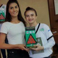 Nicolly Cristo, campeão feminina da 17ª Copa Sul de Snooker