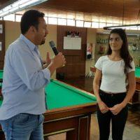 Noel e Caroline Rampão na premiação da 17ª Copa Sul de Snooker