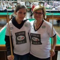 Lilian e Fátima na 17ª Copa Sul Noel Snooker
