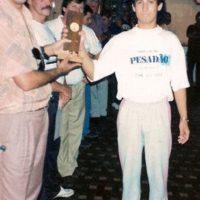 Premiação de sinuca 1992