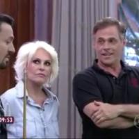 Noel faz exibição de sinuca no programa Mais Você com Ana Maria Braga