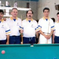 Jogadores de sinuca: Ernesto, Bozza, Xavierzinho, Noel e Bozzinha