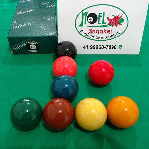 Jogo de bola Aramith importada usada com 8 bolas de 54mm