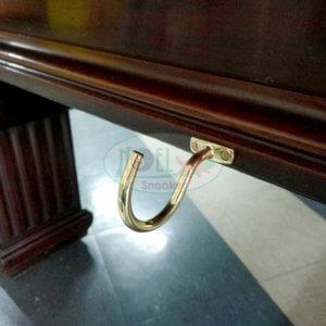 Porta triângulo de sinuca importado dourado