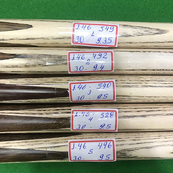 Taco de sinuca 3/4 de madeira ash da marca Noel