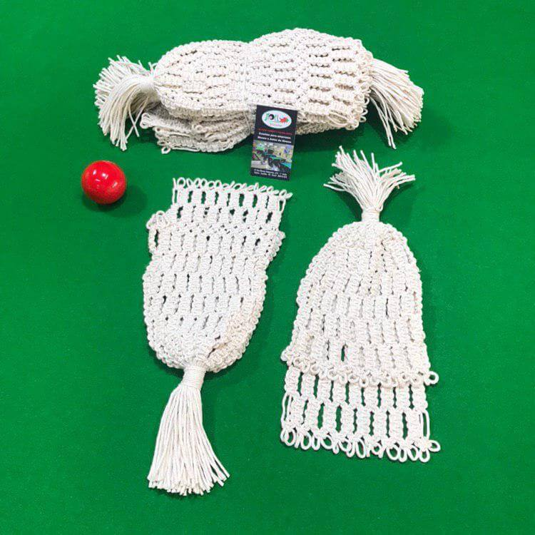 rede para caçapa de sinuca